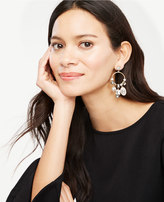 Ann Taylor Crystal Hoop Drop Earrings