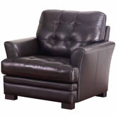 Asstd National Brand Bella Leather Pad-Arm Chair