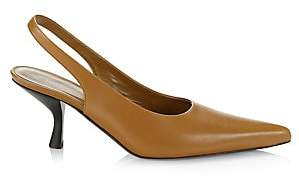 The Row Women's Bourgeoise Leather Slingback Pumps
