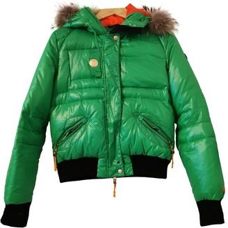 JC de CASTELBAJAC Green Leather Jacket for Women