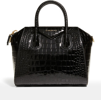 Givenchy Antigona Small Croc-Embossed Leather Bag