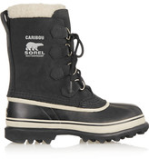 Sorel Caribou Waterproof Suede And Rubber Boots - Black