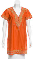 Calypso Embroidered Short Sleeve Tunic