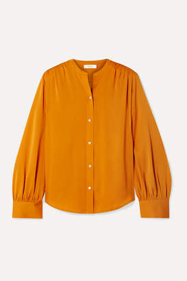 Vince Stretch-silk Blouse - Orange