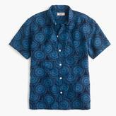 J.Crew Wallace & Barnes short-sleeve camp-collar shirt in silk-linen