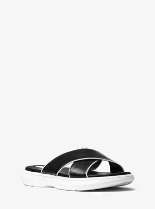 Michael Kors Daphne Calf Leather Slide