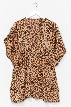Nasty Gal Womens ANIMAL SMOCK DRESS - Brown - 8