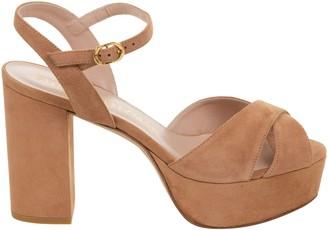 Stuart Weitzman Side-buckled Block Heel Sandals