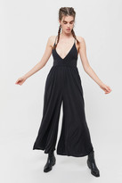 Urban Outfitters Genesis Cupro Plunging Jumpsuit