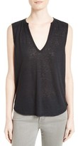 Twenty Women's Sleeveless Linen Blend Tee