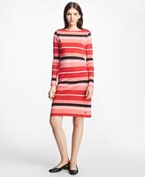Brooks Brothers Cabana Stripe Boatneck Dress