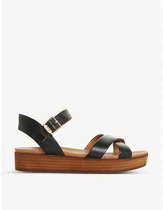 Dune Koby leather flatform sandals