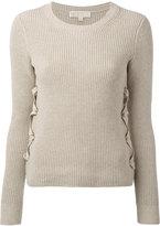 MICHAEL Michael Kors lace-up sides jumper - women - Cotton - M