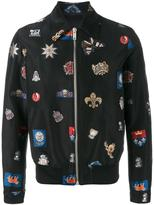 Alexander McQueen badge embroidered jacket