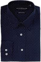 Nick Graham Polka Dot Stretch Slim Fit Dress Shirt