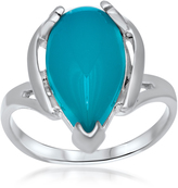 Tradition Collection: Silver Ring with Teal Paraiba Agate by Drukker Designs