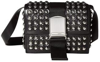 McQ Christine Deluxe Small Crossbody Bag (Black) Handbags