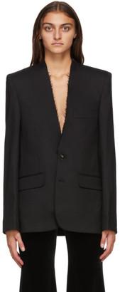 Vetements Black Wool Collarless Blazer