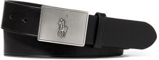 Ralph Lauren Pony Plaque Leather Belt