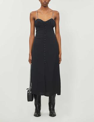 The Kooples Embellished silk midi dress
