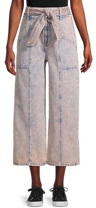 Joie Casen Cropped Wide-Leg Jeans
