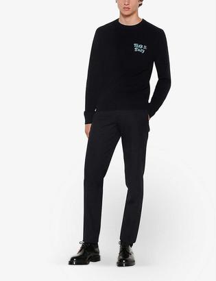Sandro Intarsia-print knitted jumper
