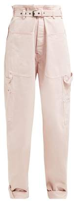 Isabel Marant Inny Paperbag Waist Wide Leg Trousers - Womens - Light Pink