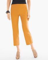 Chico's Stretch Straight-Leg Crops in Burnt Yellow Ochre