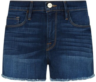 Frame Le Cut-Off Denim Shorts