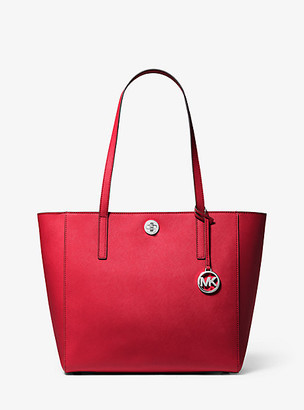 MICHAEL Michael Kors MK Rivington Large Saffiano Leather Tote Bag - Bright Red - Michael Kors