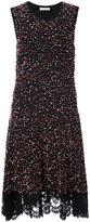 Oscar de la Renta lace detail bobble dress - women - Nylon/Polyester/Viscose - M
