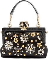 Dolce & Gabbana Vanda crystal-embellished satin bag
