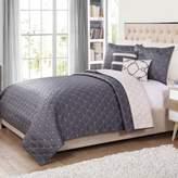 Bed Bath & Beyond Lattice 5-Piece Reversible Twin Quilt Set in Grey