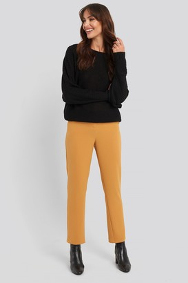 NA-KD High Waist Suit Trousers Orange
