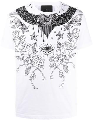 John Richmond printed short-sleeved T-shirt