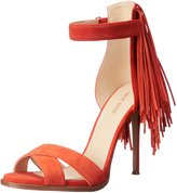 Nine West Women's Hustle Leather Heeled Sandal