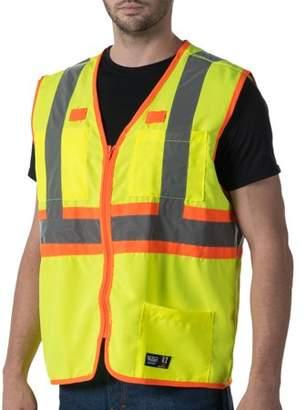 Walls Big Men's Full ANSI II High Visibility Safety Vest, 2XL