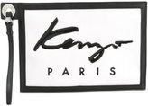 Kenzo small logo print clutch - women - Cotton/Leather/Nylon/Polyurethane - One Size