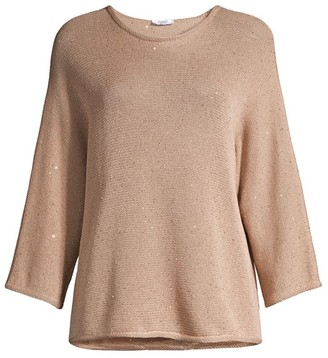 Peserico Sequin Dolman-Sleeve Sweater
