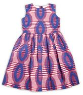 Oscar de la Renta Little Girl's Printed Cotton Party Dress