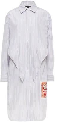 Markus Lupfer Appliqued Striped Cotton-poplin Shirt Dress