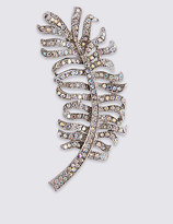 M&S Collection Feather Brooch