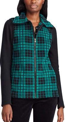 Chaps Women's Plaid Fleece Vest