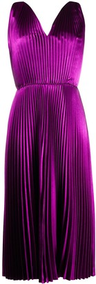Paul Smith pleated V-neck midi dress