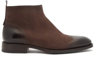 Santoni Scarlett Leather Ankle Boots - Dark Brown