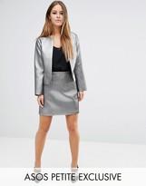 Asos Metallic Quilt A Line Skirt