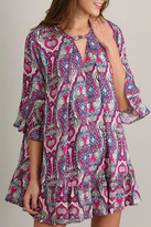 Umgee USA Sleeved Print Dress