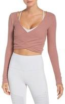 Alo Women's Amelia Luxe Crop Top