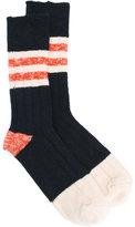 Bellerose stripe panel socks - men - Cotton - One Size