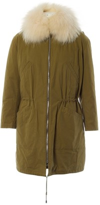 Yves Salomon Khaki Wool Coats